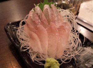 珍魚「八角」の刺身