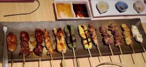 「おまかせ串セット」を京都老舗の薬味で