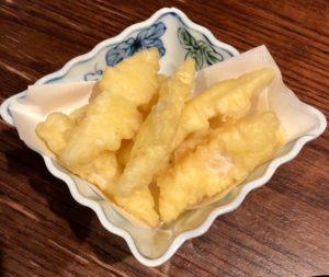 珍しい「大根の天ぷら」