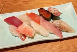 「寿司ランチセット」の握り10貫