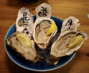 「産地生牡蠣三種食べ比べ」