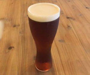 珍しい樽生ビール「琥珀の時間」