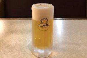 生ビールは「サッポロクラシック」