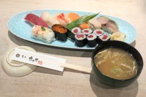 コスパ抜群の寿司ランチ(写真は「C」セット)