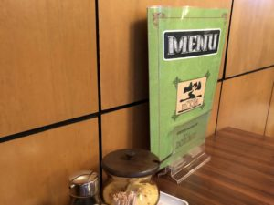 喫茶店風のメニュー