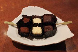 生チョコレートの「プレート」(写真は2人前)