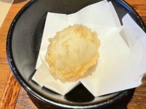 トッピングの「たまご天ぷら」
