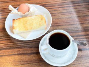コーヒーに「ハーフトーストモーニングセット」