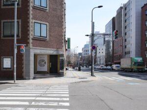 南大通「大通西14」交差点角です