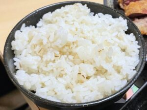 ご飯は「麦飯」