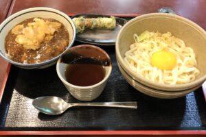 「釜玉・ちくわ磯辺揚げ・カレー丼」のオリジナル定食