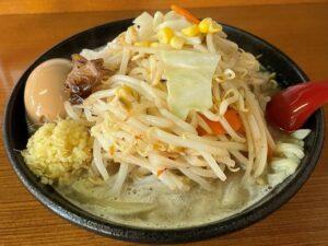 野菜たっぷり!の「タンちゃん麺」(煮玉子トッピング)