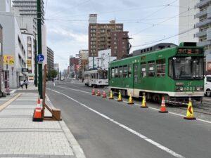 札幌市電「東本願寺」近く