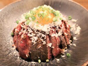ステーキ丼「TKG&山ワサビ」